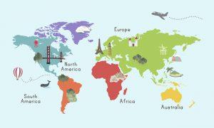 """""""Springen"""" von einem Kontinent zum anderen!"""