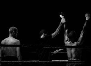 Nell'arena da combattimento